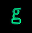 g letter logo voluminous letter with facets 3d vector image
