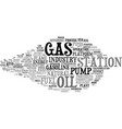 gas word cloud concept vector image vector image
