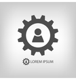 Gear wheel with person sign vector image vector image