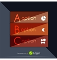 Glossy ribbon option buttons banners design vector image vector image