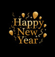 gold new year vector image vector image
