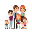 happy big family together father and mother vector image vector image