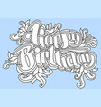 happy birthday greeting card 1 vector image vector image