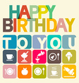 Happy Birthday to You Card vector image vector image