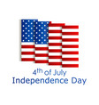independence day 4th july festive banner vector image vector image