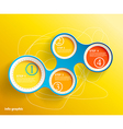 Info graphic circles with place for your text vector image vector image