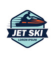 jet ski logo with text space for your slogan vector image vector image