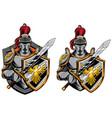 knights mascot symbol vector image