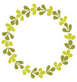 laurel wreath decorative frame isolated on white vector image vector image