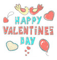 lettering happy valentines day stylized large vector image