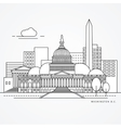 Linear of Washinton DC US Flat one vector image vector image