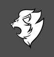 lion head symbol icon black and white vector image vector image