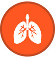 lungs glyph multi color background vector image vector image