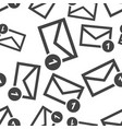 mail envelope message seamless pattern background vector image vector image