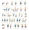 man and woman workout fitness aerobic