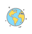 map globe icon design vector image vector image