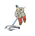 mopping the floor cartoon vector image