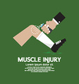 Muscle Injury With Spray Healing vector image