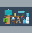office equipments workplace vector image vector image