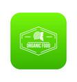 organic food icon green vector image vector image