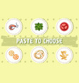paste to choose concept background cartoon style vector image
