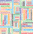 Pattern with different words to the fathers day vector image vector image