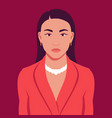 portrait asian woman in blazer with necklace