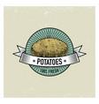 potato vintage set labels emblems or logo vector image