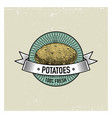 Potato vintage set of labels emblems or logo for vector image