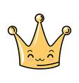 queen crown kawaii character vector image vector image