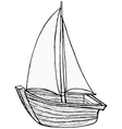 sailboat toy vector image vector image
