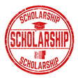 scholarship sign or stamp vector image vector image