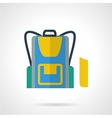 School backpack flat color icon vector image