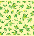seamless pattern with bamboo leaves vector image vector image