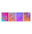 set banner design templates with abstract vibrant vector image vector image