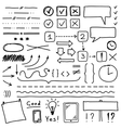 Set of hand drawing elements for edit and select