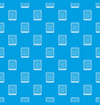 spiral notepad pattern seamless blue vector image vector image