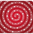 Spiral of the stars on a red background vector image vector image