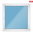 square pvc window with one sash vector image