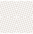 subtle checkered seamless pattern white and beige vector image vector image