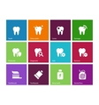 Tooth teeth icons on color background vector image