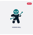 two color voodoo doll icon from magic concept vector image vector image
