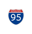 usa traffic road signs interstate route sign vector image