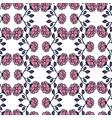vintage roses background floral seamless pattern vector image