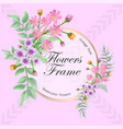 watercolor cosmos flowers frame multipurpose vector image vector image