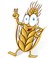 wheat cartoon isolated on white background vector image vector image