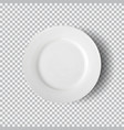 white plate isolated on transparent background vector image vector image