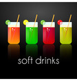 Set of tasty organic freshes or coctails vector image