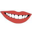 beautiful smile teeth vector image