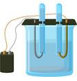 water electrolysis process vector image